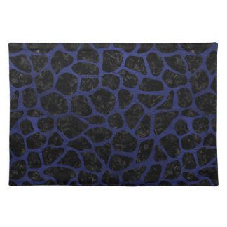 SKIN1 BLACK MARBLE & BLUE LEATHER (R) CLOTH PLACEMAT
