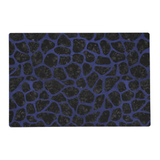 SKIN1 BLACK MARBLE & BLUE LEATHER (R) PLACEMAT