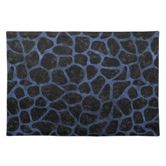 SKIN1 BLACK MARBLE & BLUE STONE (R) CLOTH PLACEMAT