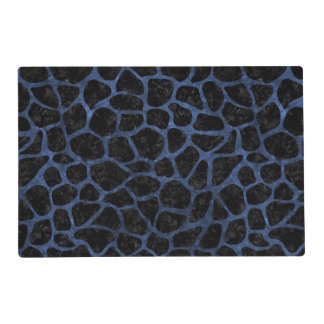 SKIN1 BLACK MARBLE & BLUE STONE (R) PLACEMAT