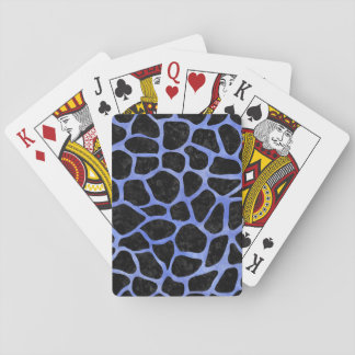 SKIN1 BLACK MARBLE & BLUE WATERCOLOR (R) PLAYING CARDS