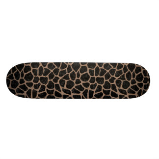 SKIN1 BLACK MARBLE & BROWN COLORED PENCIL (R) SKATEBOARD