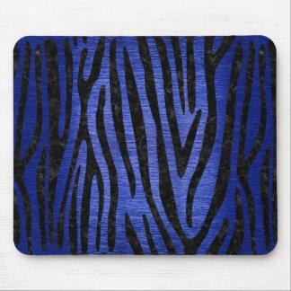 SKIN4 BLACK MARBLE & BLUE BRUSHED METAL MOUSE PAD