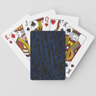 SKIN4 BLACK MARBLE & BLUE GRUNGE (R) PLAYING CARDS