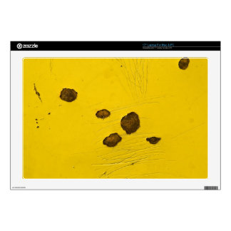"""Skin 17"""" Laptop For Mac & PC: Yellow with rust Skin For 17"""" Laptop"""
