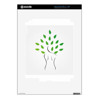Skin and hair treatment with organic products decal for the iPad 2
