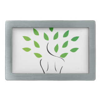Skin and hair treatment with organic products rectangular belt buckle
