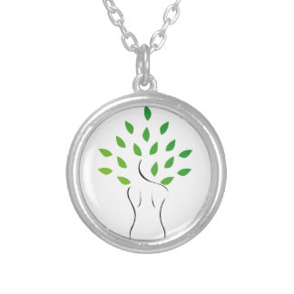 Skin and hair treatment with organic products silver plated necklace
