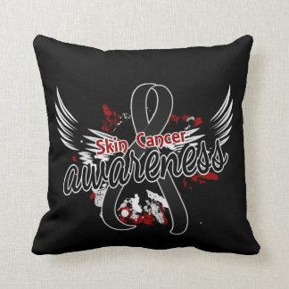 Skin Cancer Awareness 16 (Black) Pillow