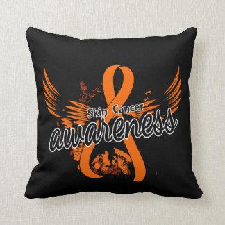 Skin Cancer Awareness 16 (Orange) Throw Pillow