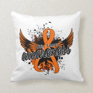 Skin Cancer Awareness 16 (Orange) Pillows