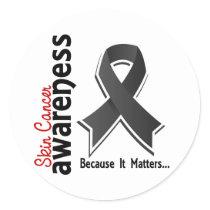 Skin Cancer Awareness 5 Classic Round Sticker