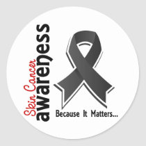 Skin Cancer Awareness 5 Classic Round Sticker