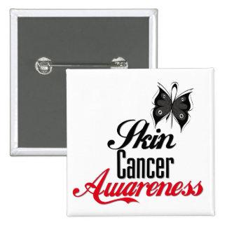 Skin Cancer Awareness Butterfly Button