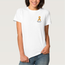 Skin Cancer Awareness :: Embroider Orange Ribbon 2 Embroidered Shirt