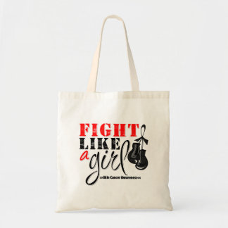 Skin Cancer Awareness Fight Like a Girl Budget Tote Bag