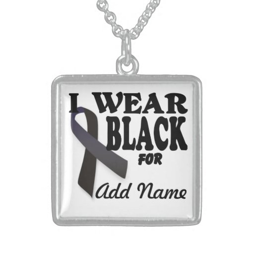 Skin Cancer  Awareness Memorial Necklace