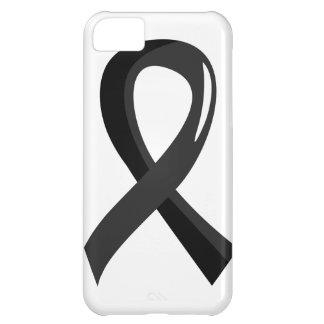 Skin Cancer Black Ribbon 3 iPhone 5C Cases