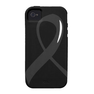 Skin Cancer Black Ribbon 3 Vibe iPhone 4 Covers