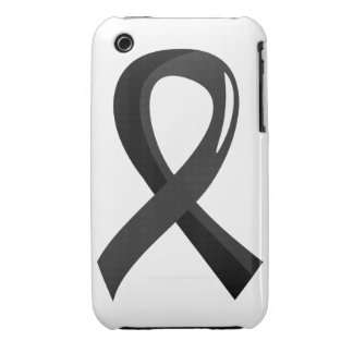 Skin Cancer Black Ribbon 3 iPhone 3 Covers