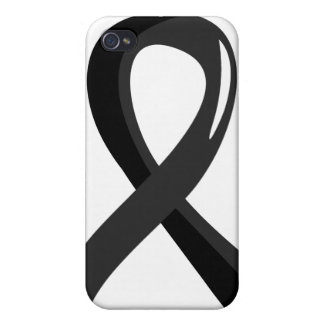 Skin Cancer Black Ribbon 3 Case For iPhone 4