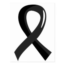 Skin Cancer Black Ribbon 3 Postcard