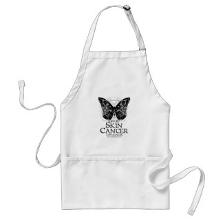 Skin Cancer Butterfly 2 Adult Apron