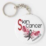 Skin Cancer BUTTERFLY 3.1 Keychain