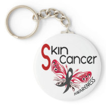 Skin Cancer BUTTERFLY 3.1 Keychain