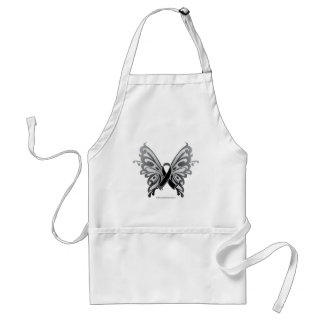 Skin Cancer Butterfly Ribbon Adult Apron