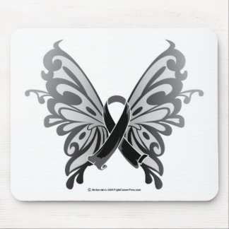 Skin Cancer Butterfly Ribbon Mouse Pad