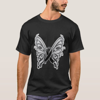 Skin Cancer Butterfly Ribbon T-Shirt