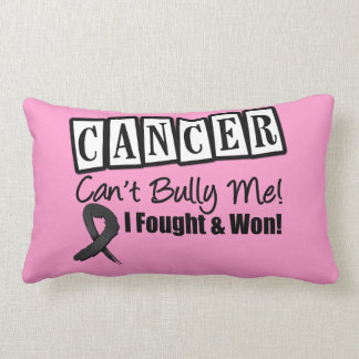 Skin Cancer Can't Bully Me...I Fought I Won Throw Pillows