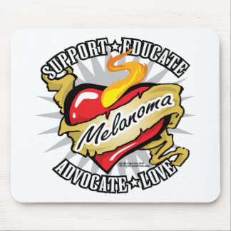 Skin Cancer Classic Heart Mouse Pad
