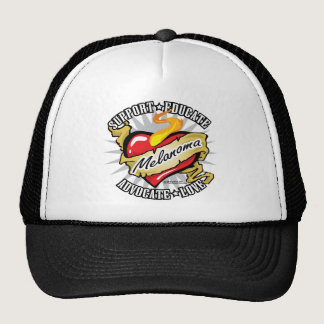Skin Cancer Classic Heart Trucker Hat
