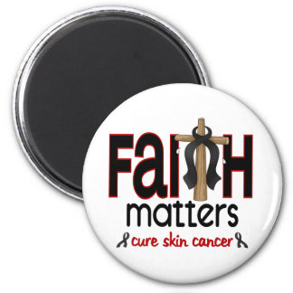 Skin Cancer Faith Matters Cross 1 2 Inch Round Magnet