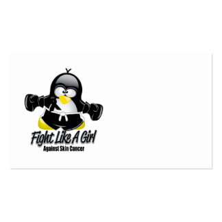 Skin Cancer Fighting Penguin Business Cards