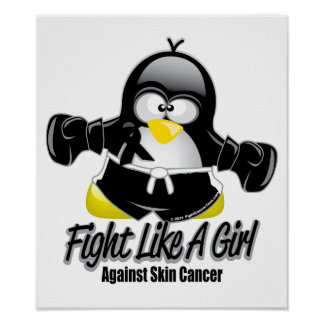 Skin Cancer Fighting Penguin Posters