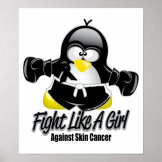 Skin Cancer Fighting Penguin Poster