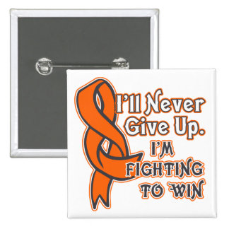 Skin Cancer Fighting To Win 2 Inch Square Button