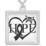 Skin Cancer Hope Butterfly Heart Décor Custom Jewelry