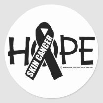 Skin Cancer Hope Classic Round Sticker