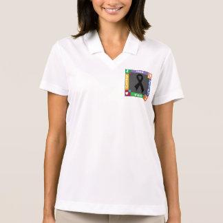 Skin Cancer Hope Strength Faith Polo T-shirt