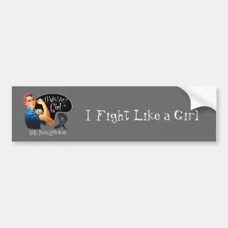 Skin Cancer I Fight Like a Girl Rosie The Riveter Bumper Stickers