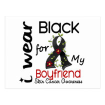 Skin Cancer I Wear Black For My Boyfriend 43 Postcard
