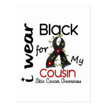 Skin Cancer I Wear Black For My Cousin 43 Postcard