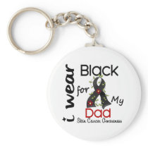 Skin Cancer I Wear Black For My Dad 43 Keychain