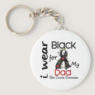 Skin Cancer I Wear Black For My Dad 43 Keychain