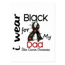 Skin Cancer I Wear Black For My Dad 43 Postcard