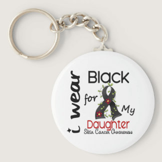 Skin Cancer I Wear Black For My Daughter 43 Keychain